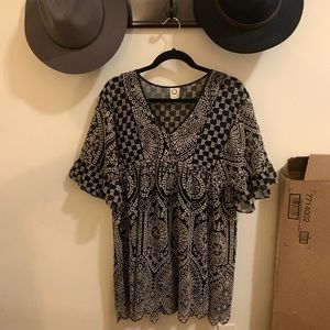 Anthropologie Embroidered T-shirt Dress